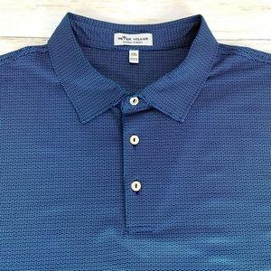 Peter Millar Men's Summer Comfort Golf Polo Blue